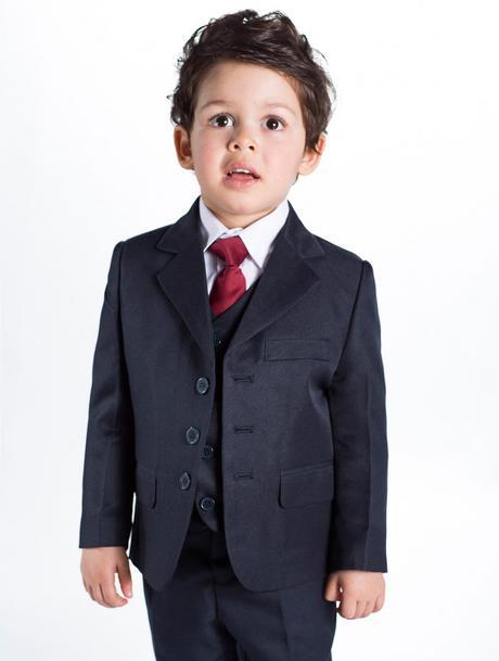 Tmavě modrý (navy) oblek 1-14 let - půjčovné, 146