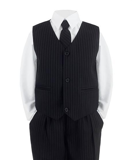 Tmavě modrý oblek s proužky, 116
