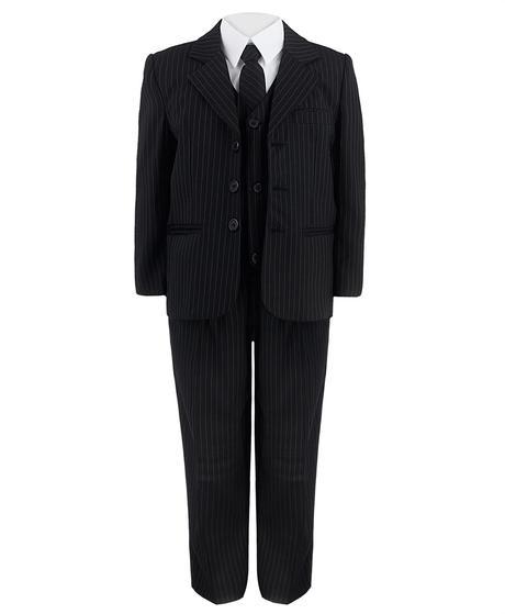 Tmavě modrý oblek s proužky, 134