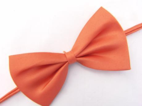 Tmavě oranžový dětský motýlek,