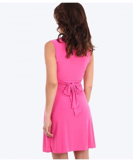 Tmavě růžové společenské šaty 46-50, L