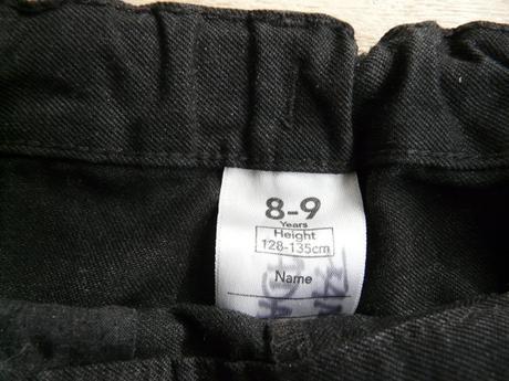 Tmavě šedé společenské kalhoty, 8-9 let, 140