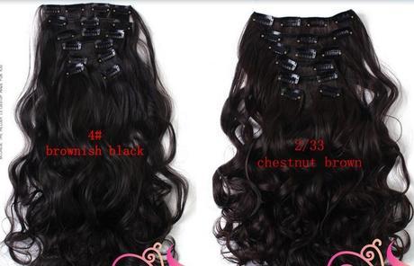 Vlasový příčesek - vlnitý -50cm -7 ks (16 klipsů),
