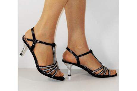 Výprodej - černé plesové sandálky, 36-41, 36