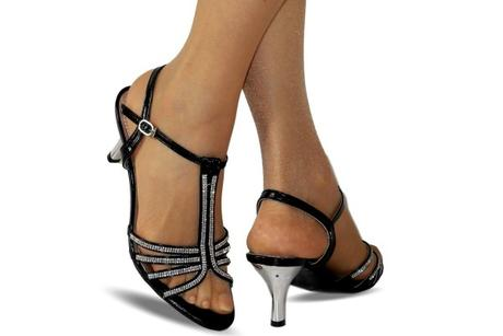 Výprodej - černé plesové sandálky, 36-41, 38