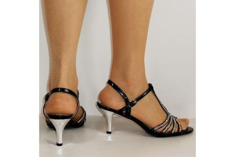 Výprodej - černé plesové sandálky, 36-41, 40