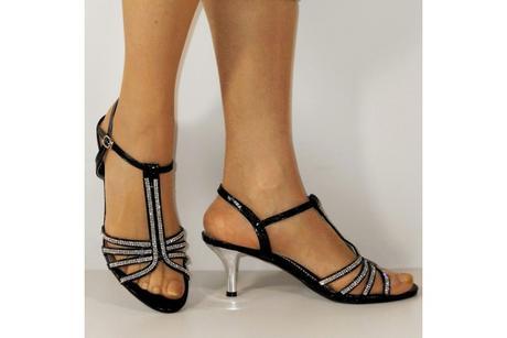 Výprodej - černé plesové sandálky, 36-41, 41