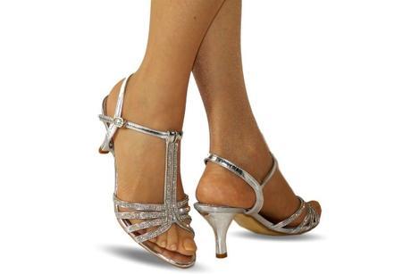 Výprodej - stříbrné plesové sandálky, 36-41, 38