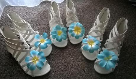 Z naší svatby - jednou použité sandálky - 33,35,36, 33