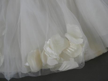 Zapůjčím ivory šaty pro družičky - 1-4 roky, 104
