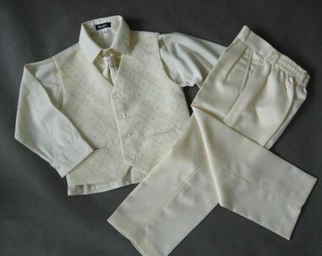 Zapůjčím společenský, svatební dětský oblek, 104