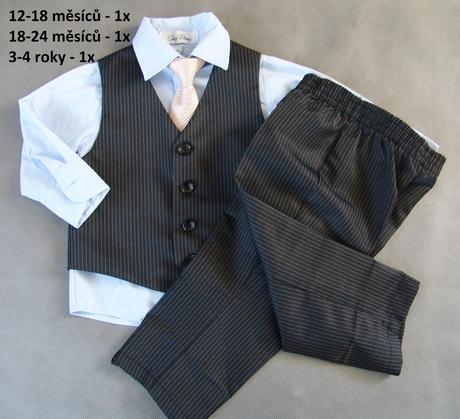 Zapůjčím společenský, svatební dětský oblek, 98