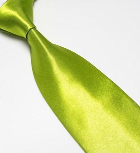 Zelená pánská klasická kravata,