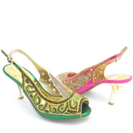 Zelené společenské, plesové sandálky, 36-41, 38