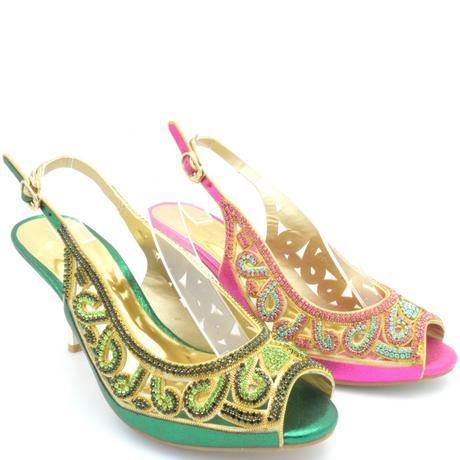 Zelené společenské, plesové sandálky, 36-41, 40
