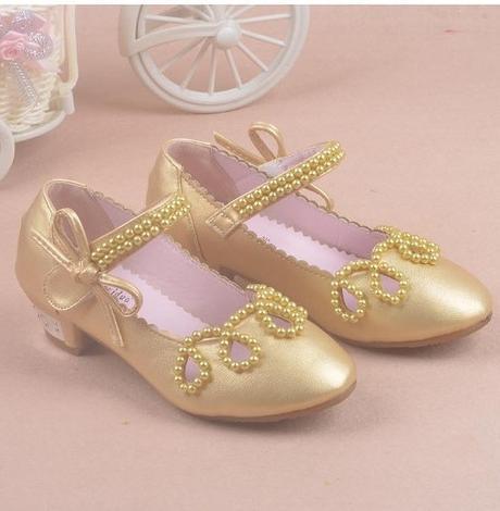 Zlaté dětské společenské boty, 26-36, 27
