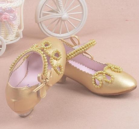 Zlaté dětské společenské boty, 26-36, 33