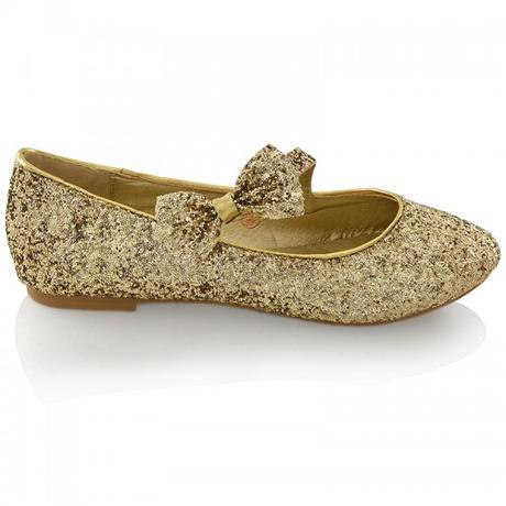 Zlaté flitrované svatební baleríny, 36-41, 41