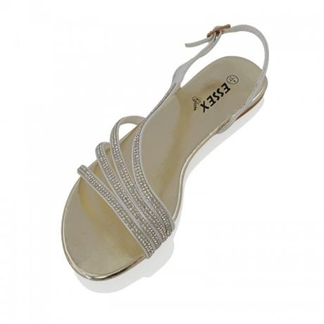Zlaté plesové, plážové sandálky, 36-41, 37