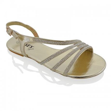 Zlaté plesové, plážové sandálky, 36-41, 38