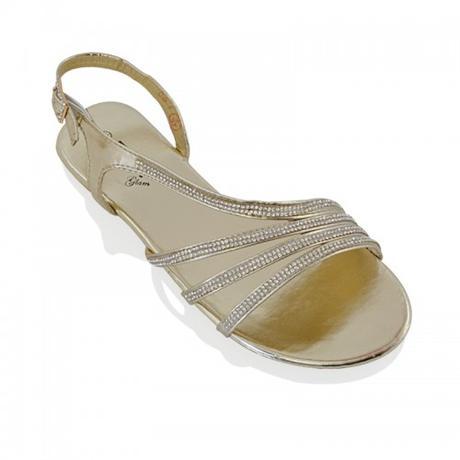 Zlaté plesové, plážové sandálky, 36-41, 41