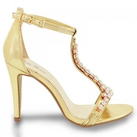 Zlaté plesové, taneční sandálky - 36-41, 39