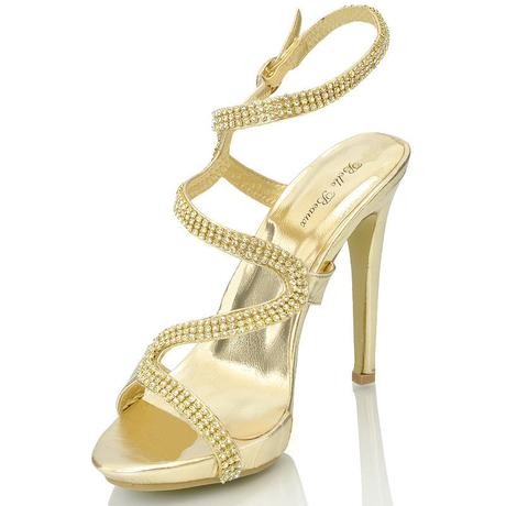 Zlaté plesové, taneční sandálky - 36-41, 40