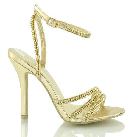 Zlaté plesové, taneční sandálky - 36-41, 41