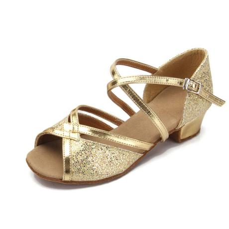 Zlaté, růžové, stříbrné taneční boty, sandálky, 30