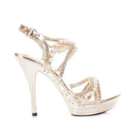 Zlaté sandálky, perličky, 36-41, 39