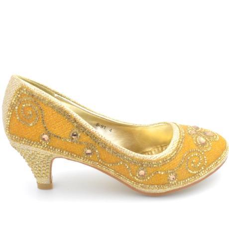 Zlaté společenské, plesové lodičky, 36-41, 36