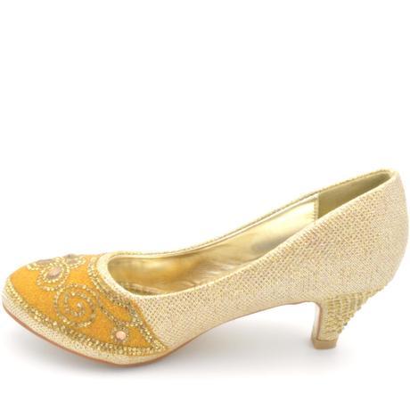 Zlaté společenské, plesové lodičky, 36-41, 37