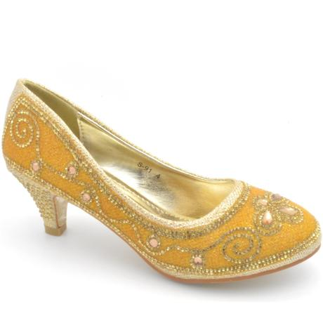 Zlaté společenské, plesové lodičky, 36-41, 38