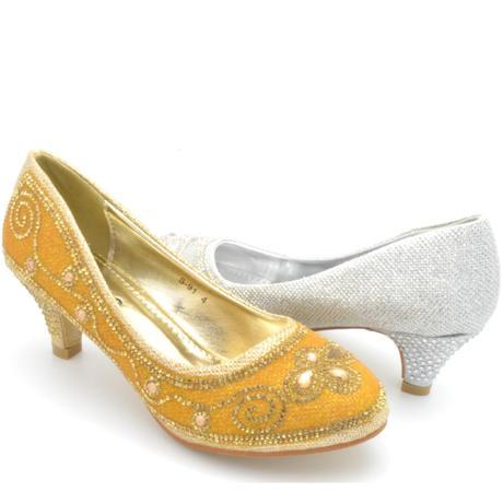 Zlaté společenské, plesové lodičky, 36-41, 41