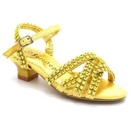 Zlaté společenské plesové sandálky, 36, 36