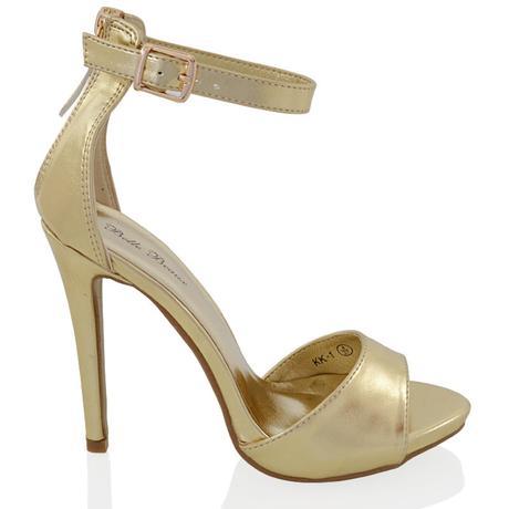 Zlaté společenské, plesové sandálky, 36-41, 38