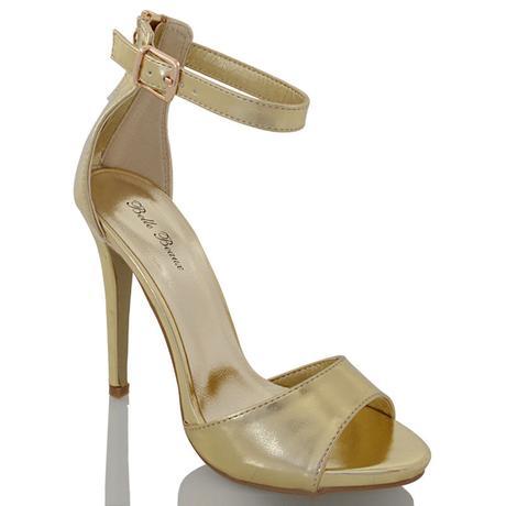 Zlaté společenské, plesové sandálky, 36-41, 39