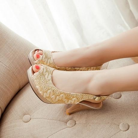 Zlaté svatební, společenské boty, 34-41, 36