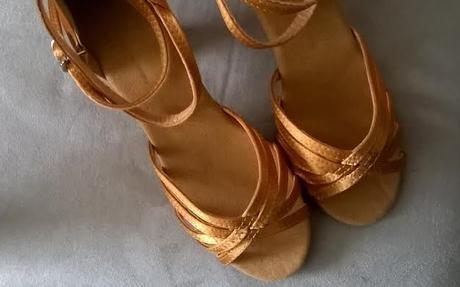 Zlaté taneční boty - vel 34, 34