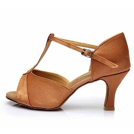 Zlaté taneční saténové střevíčky - 25 a 25,5cm, 40