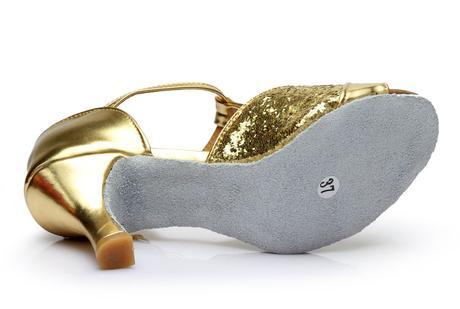 Zlaté taneční střevíčky, boty, 37