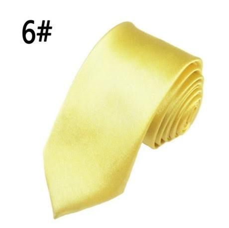 Žlutá pánská kravata,