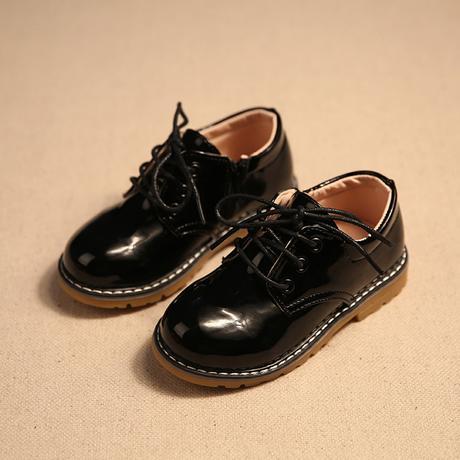 Žluté dětské společenské boty, 26-30, 26