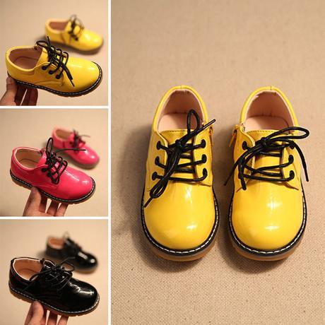 Žluté dětské společenské boty, 26-30, 27