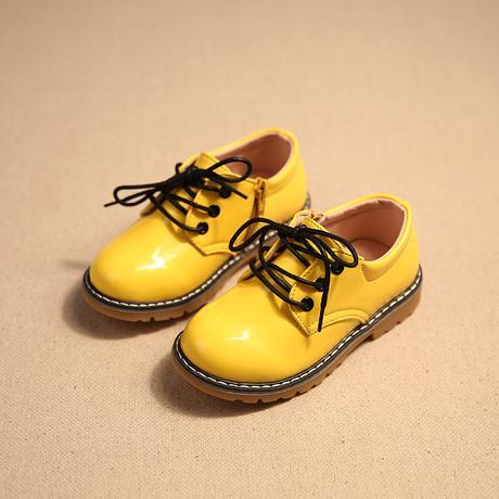 Žluté dětské společenské boty, 26-30, 28