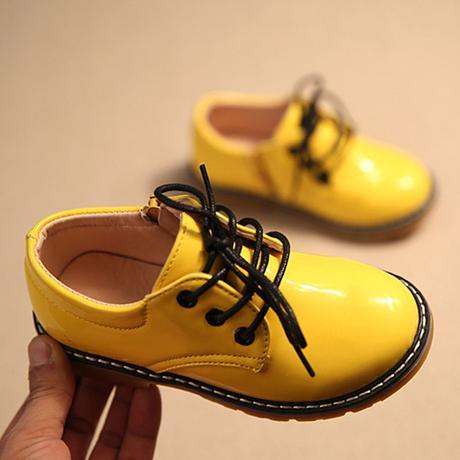 Žluté dětské společenské boty, 26-30, 29