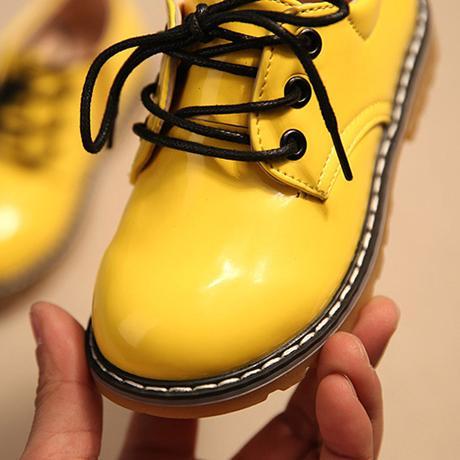 Žluté dětské společenské boty, 26-30, 30