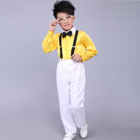 Žlutý chlapecký svatební, společenský oblek, kšand, 116
