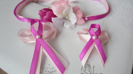 Růžový vývazek pro svatebčany,