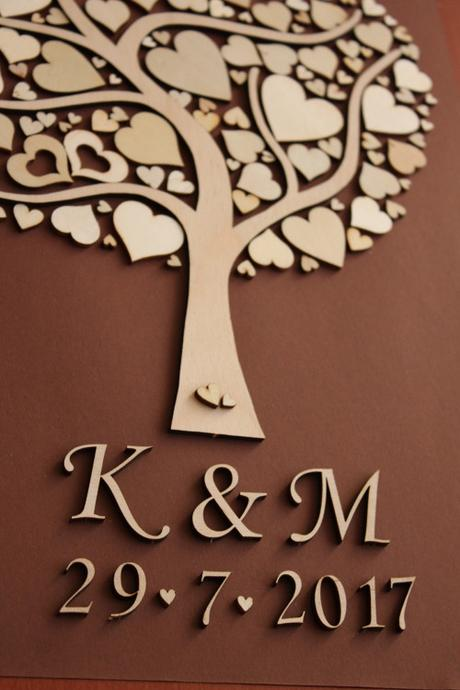 Svatební strom-kniha hostů ,